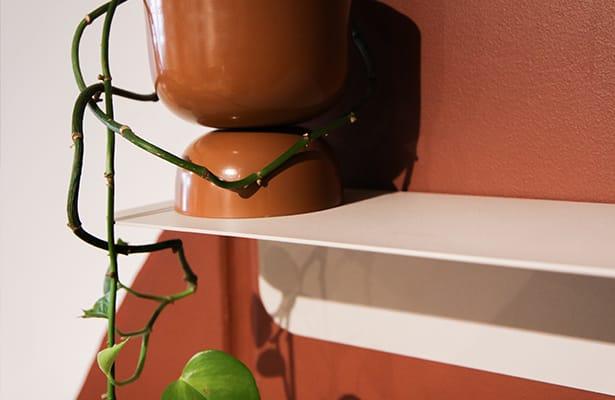 Flip Wall Shelf 40cm - Warm Beige - Flip Either Way