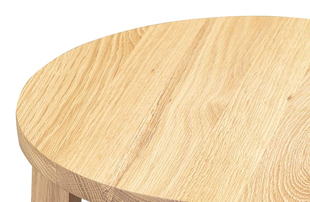 Tangent Stool - Oak - A Rounded Motif