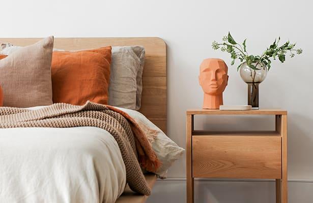 Reside Bedside Table - Oak - Bedside Companion