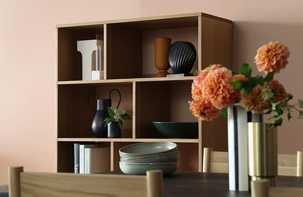 Enhance Open Bookcase Large - Oak - Effortless Storage