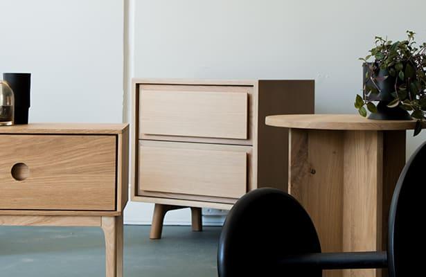 Waver Bedside Table - Oak - A Design Statement
