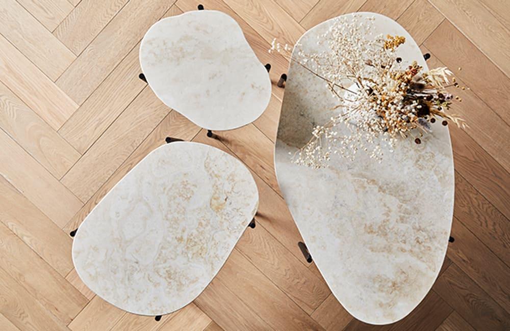 La Terra Coffee Table - Travertine - <p>One Of A Kind</p>