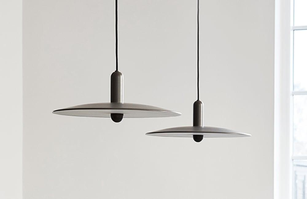 LU Small Pendant Light - Taupe - <p>Pure Form</p>