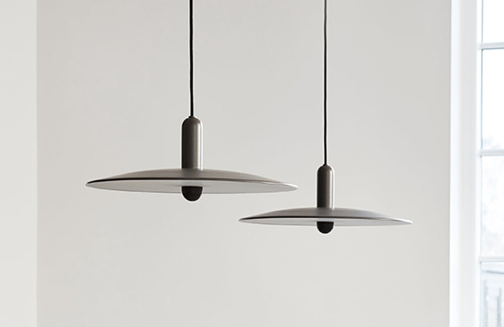 LU Large Pendant Light - Taupe - <p>Pure Form</p>