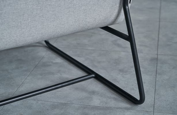 Puffy Lounge Chair - Light Grey - Exploring New Perspectives