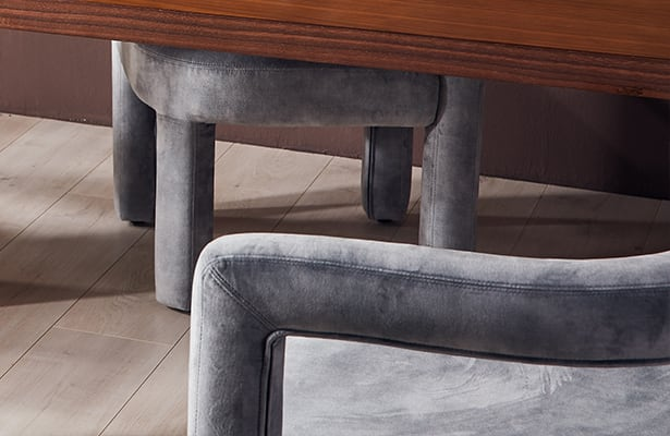 Mate Lounge Chair - Grey Velvet - Exploring New Perspectives
