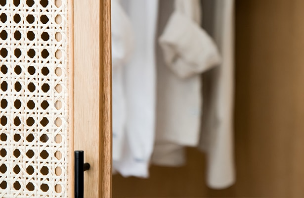 Embrace Rattan Wardrobe - Natural - One of a Kind