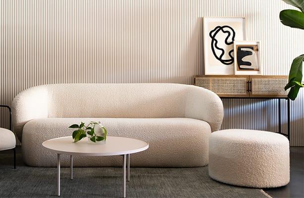 Lap Coffee Table - Warm Beige - Refined Design