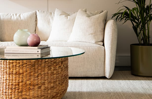 Weave Coffee Table - Natural - Surprise Storage