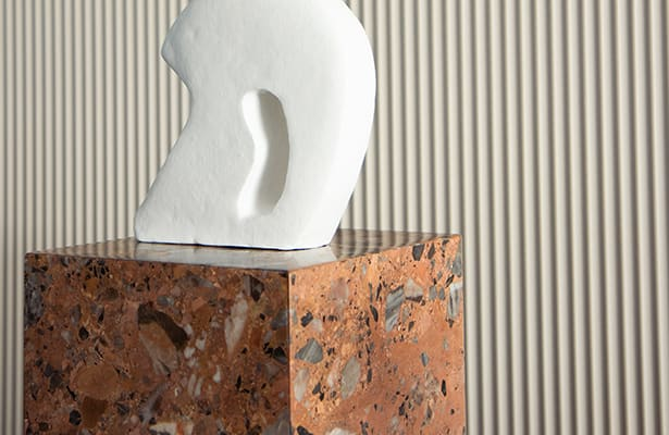 Stage Marble Plinth - Rosa Marble - Sure to Impress