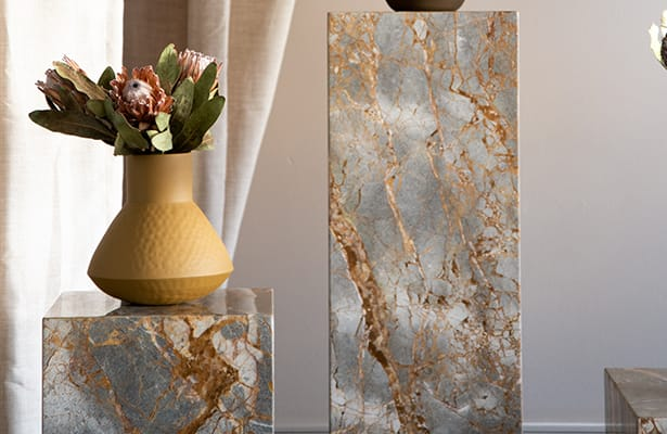Stage Marble Side Table Tall - Earth Marble - Sure to Impress