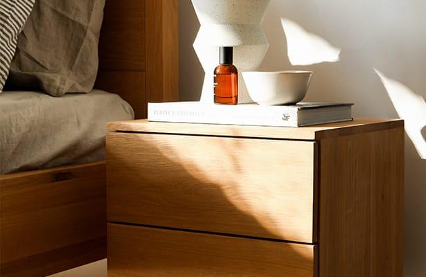 Harmony Bedside Table - Oak - One of a Kind