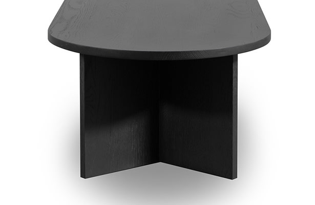 Edge Oval Coffee Table - Black - One of a Kind