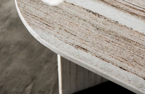 Edge Oval Coffee Table - Sand Granite - One of a Kind