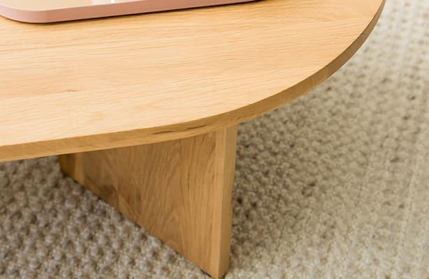 Edge Oval Coffee Table - Oak - One of a Kind