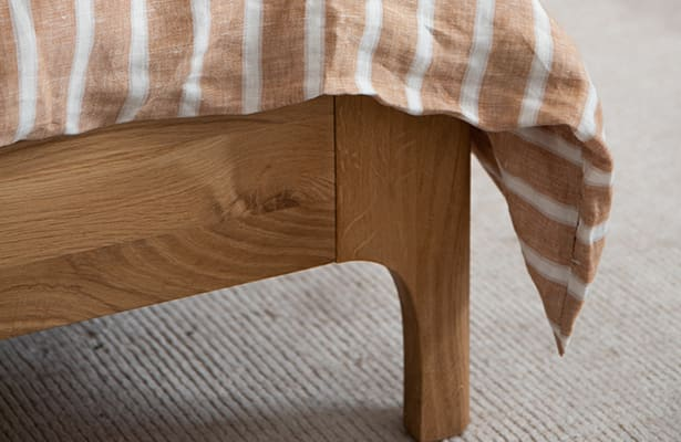 Ambience King Bed Base - Oak - One of a Kind