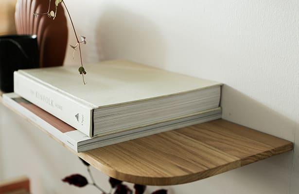 Light Wall Shelf 210cm - Oak - One of a Kind