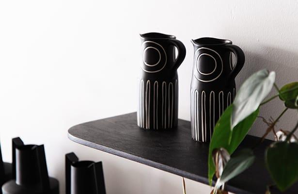 Light Wall Shelf 40cm - Black - One of a Kind