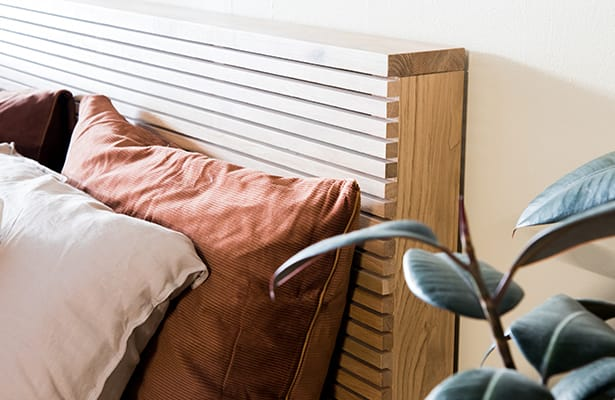 Linear King Bed - Oak - One of a Kind