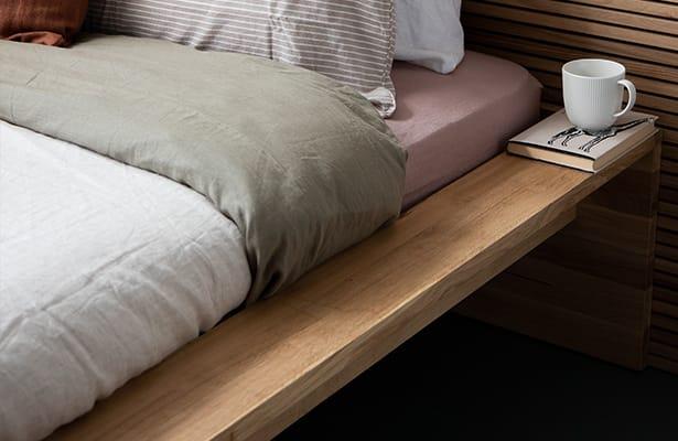 Slice King Bed Base - Oak - One of a Kind