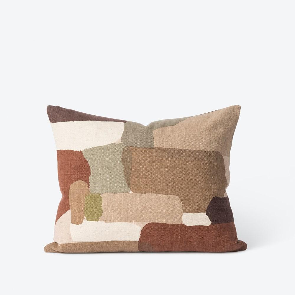 Pasture Cushion - Brick/Multi