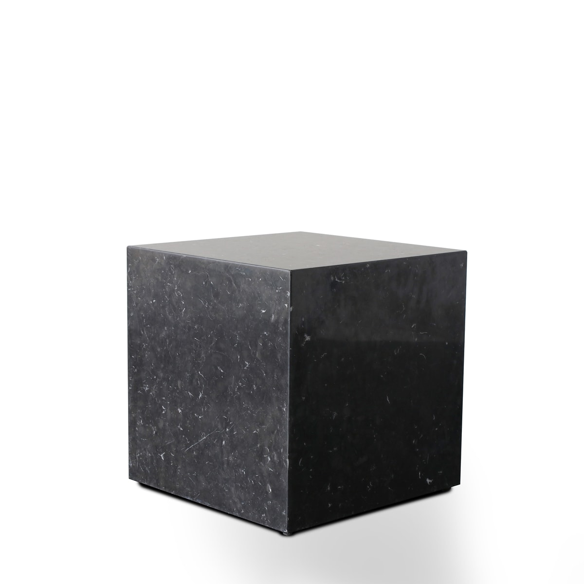 Stage Marble Side Table Low - Black Marble