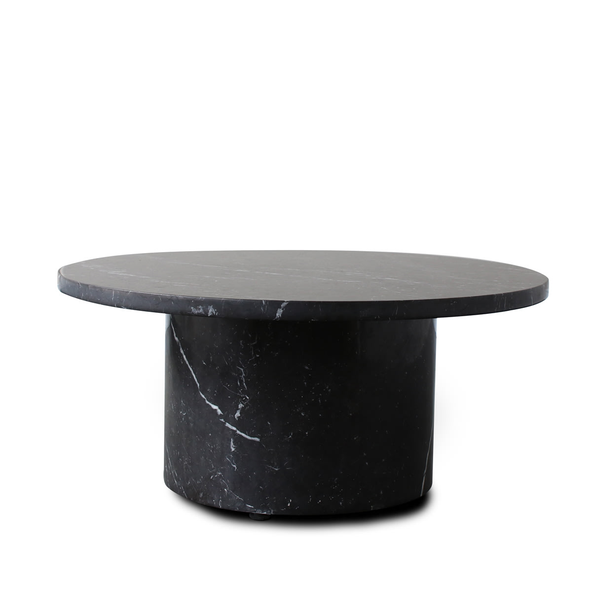 Curve Marble Coffee Table - Black Marble