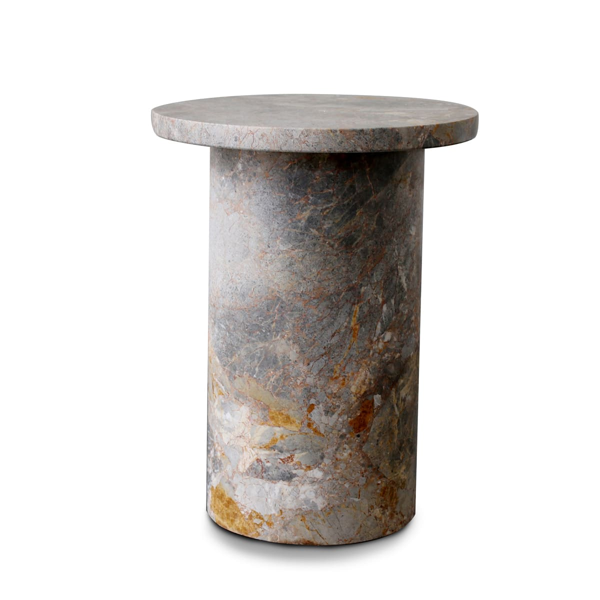 Curve Marble Side Table - Earth Marble