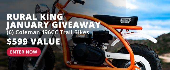 Win a Coleman 196cc Trail Mini Bike - Enter the RK Giveaway >