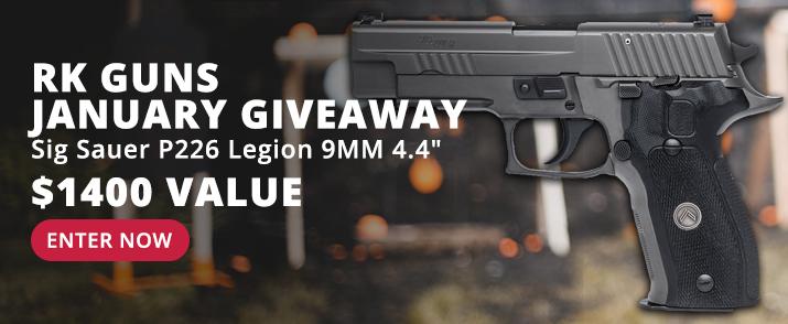 Win a Sig Sauer P226 Legion 9mm - Enter the RKG Giveaway >