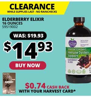 CLEARANCE: Elderberry Elixir 16 oz.
