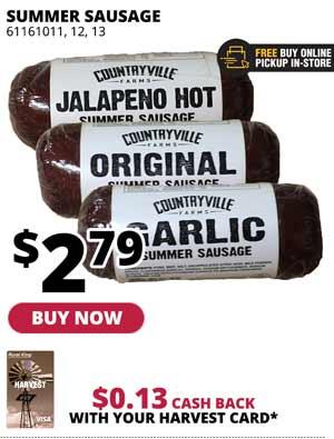 Countryville Farms Summer Sausage 10 oz.