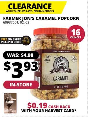 CLEARANCE: Farmer Jon's 16 oz. Popcorn