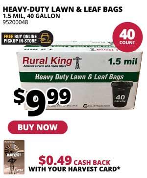 40-Count Heavy-Duty 40 Gal Lawn & Leaf Bags