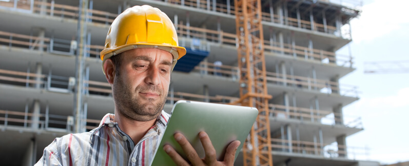 Working Construction with a tablet