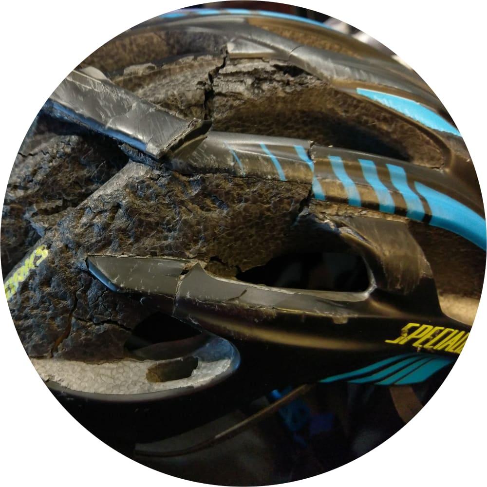 David's Destroyed Helmet