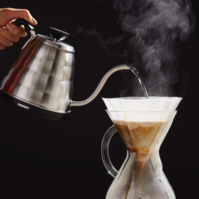 Pouring a coffee