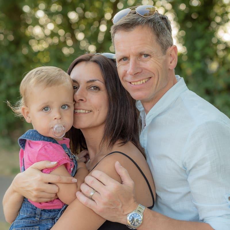 Mum, Dad & baby photography Leighton Buzzard