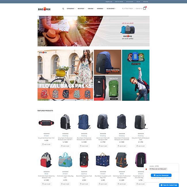Bag Mia - eCommerce Website