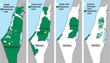 Suprafața Palestinei evoluează precum civilizația aztecă, adică dispare