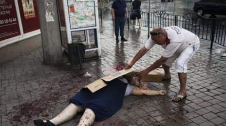 Recunoașteți melodia? În zonele ocupate, Armata Roșie s-a apucat să omoare civili, trăgând la întâmplare în oras, și asta nu doar o dată