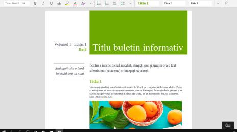 Microsoft Word în Windows 10 Continuum
