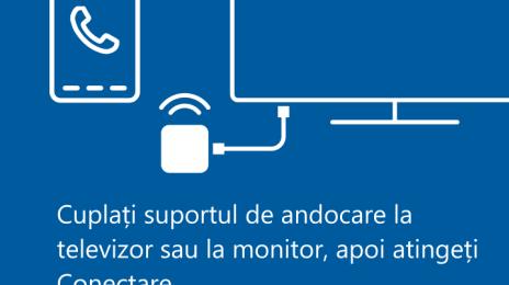 Cum va puteți conecta pentru Continuum: cu fir la DisplayDock HD500 sau prin WiFi