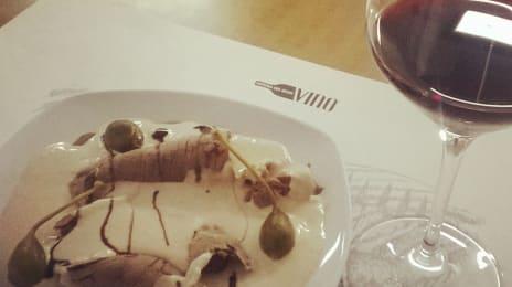 Vitello Tonnato c-un vin roșu din #piemonte