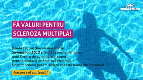 Afiș Swimathlon Scleroză Multiplă, 2013