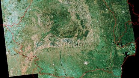România văzută din satelit, fotografie realizată de ESA