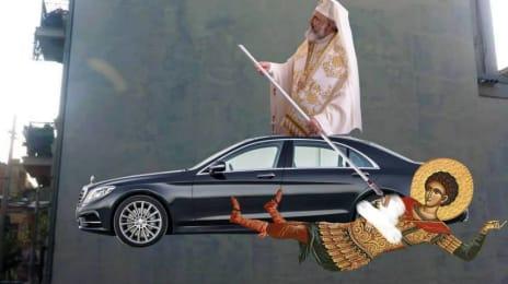 Patriarhul Sataniel cu mașina