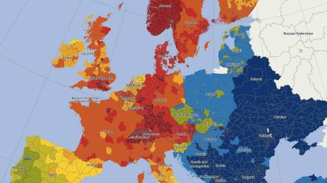 Puterea de cumpărare în Europa, în funcție de județ
