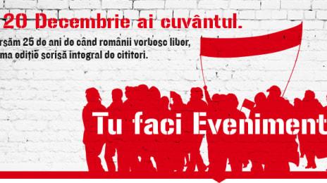 Pe 20 Decembrie 2014 ai cuvântul - O campanie EVZ
