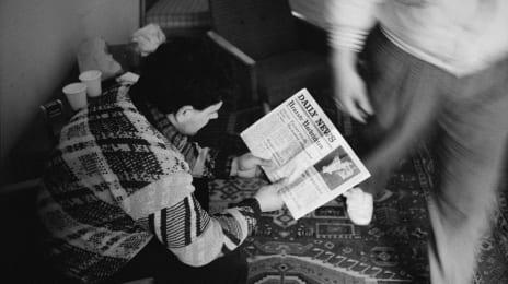 Refugiați romani în Ungaria, în drum spre occident, 20 Martie 1989, (C) John Vink